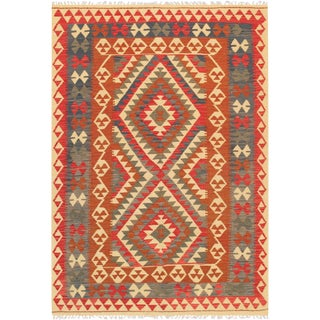 "Anatolian Kilim Hand-Woven Area Rug- 4' 7"" X 6'10"""