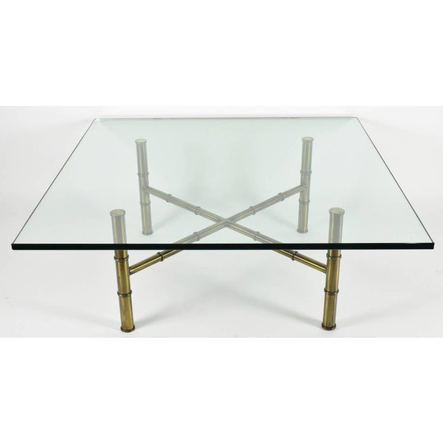 Faux Bamboo Coffee Table Attributed to Mastercraft - Image 5 of 8