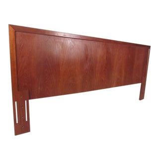 Scandinavian Modern Vintage Teak Bed Headboard