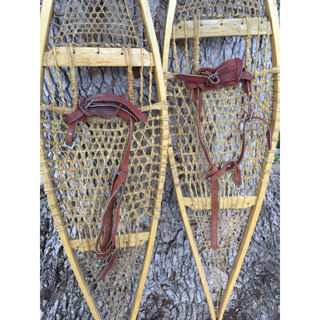 Vintage Ojibwe Snow Shoes - A Pair - Image 4 of 7