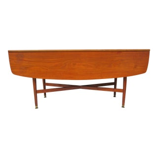 Kipp Stewart for Drexel Drop Leaf Sofa Tabe