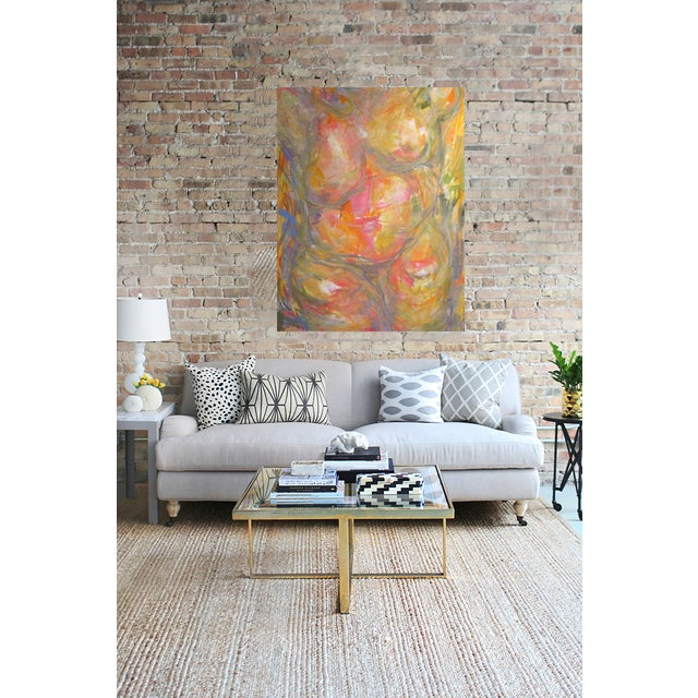 """Abstract Figure Oil Painting Trixie Pitts 60""""x48"""" - Image 2 of 2"""