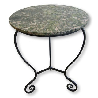 Round Marble Top & Iron Table