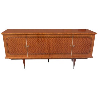 Stunning French Art Deco Flame Mahogany Sideboard / Buffet, circa 1940s