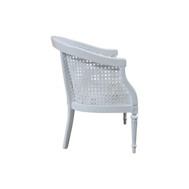 Image of Vintage White Cane Back Barrel Chair