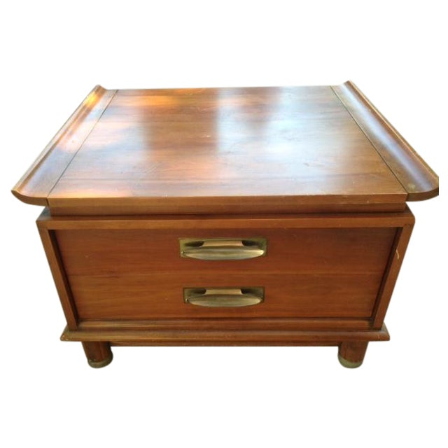 Willett Trans-East Cherry Wood Side Table - Image 1 of 5