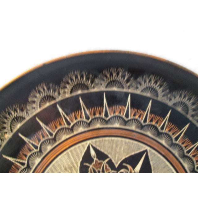 Vintage Moroccan Large Etched Copper Tray - Image 4 of 6