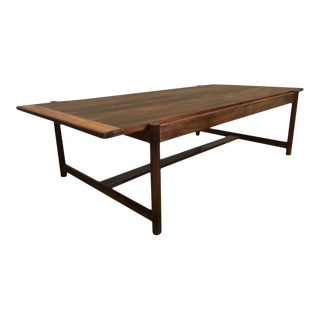 Danish Mid-Century Modern Rosewood Flip Top Coffee Table