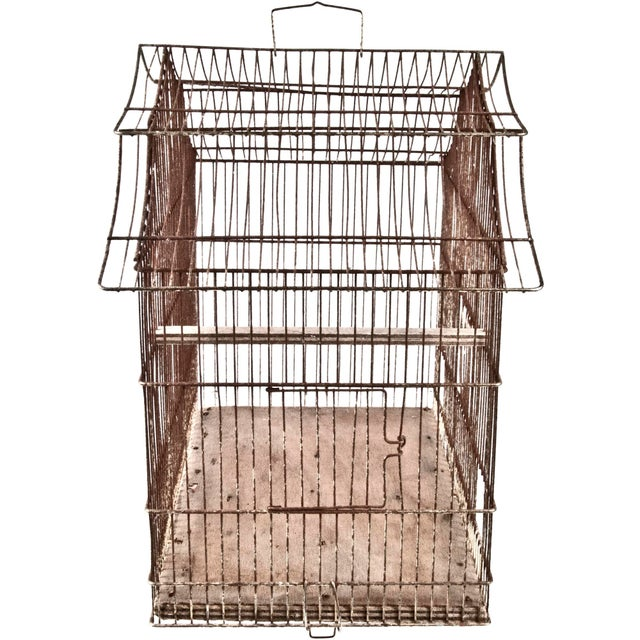 Vintage French Wire Bird Cage - Image 3 of 3