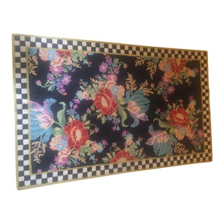 MacKenzie Childs Flower Rug -- 5' x 8'