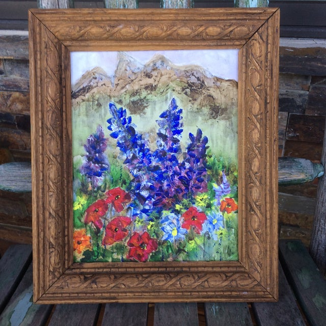 Barbara Gottschling Framed Flowers Painting - Image 2 of 3