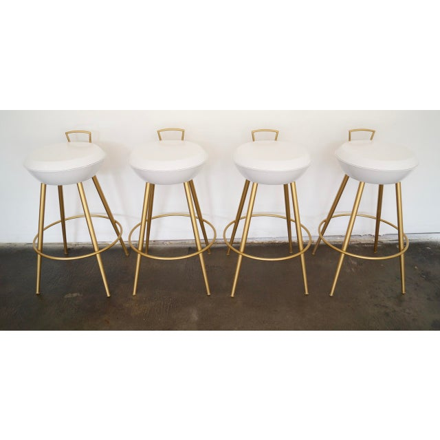 Mid-Century California Modern Bar Stools - Set of 4 - Image 7 of 11