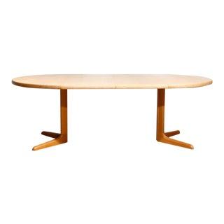 Danish Blonde Oak Expandable Dining Table