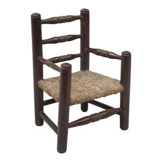 Antique Miniature Beech Arm Chair, Circa 1870
