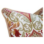 Image of Large Custom French Embroidered Jacquard Pillow