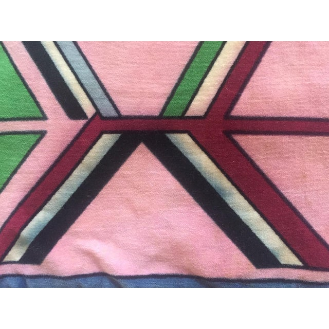 Vintage Pucci Style Velvet Throw Pillow Cover - Image 6 of 9