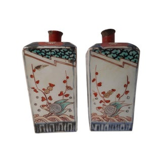 Antique 18th Century Chinese Bottle Vases - A Pair