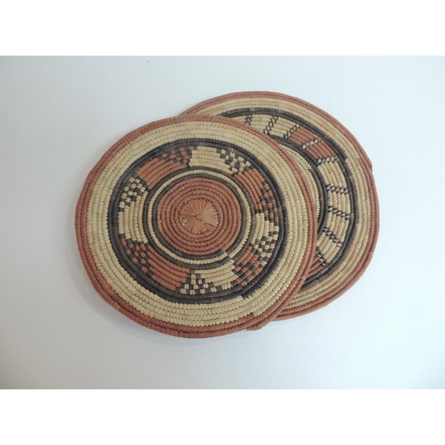Vintage African Placemats or Wall Accents - A Pair - Image 2 of 4