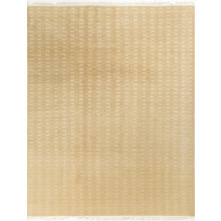 Modern Contemporary Hand Knotted Wool Rug - 9' x 12'