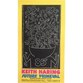 Original Keith Haring Lithograph Poster, 1990