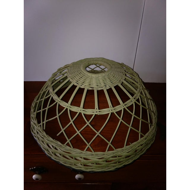 Antique Haywood Wakefield Era Wicker Table Lamp - Image 6 of 10