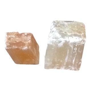 Pink Selenite Blocks - Pair