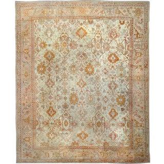"""Antique Oushak Carpet - 16'2"""" x 13'4"""""""