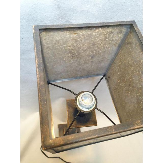 Image of Square Crackle Glass Buffet Lamp