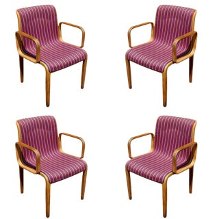 Bill Stephens for Knoll Bent Wood Chairs - Set of 4