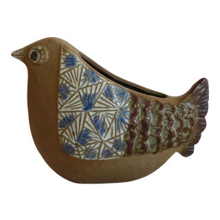 Mid-Century Ceramic Bird Planter