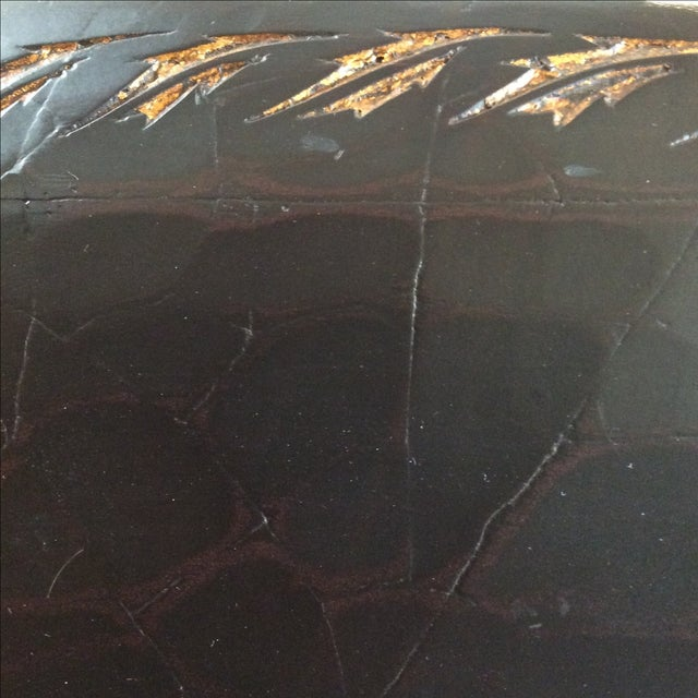 Large Black Crackle Finish Mirror - Image 10 of 10