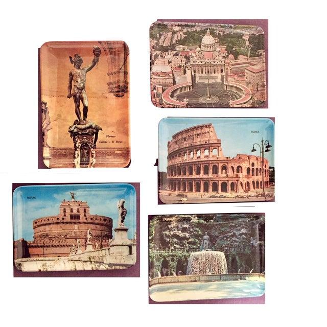Vintage Mebel Melamine Italian Souvenir Tip Trays - Set of 5 - Image 2 of 11
