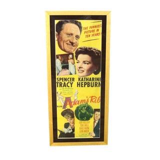 """1949 """"Adams Rib"""" Framed Movie Poster"""