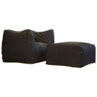 Mario Bellini Lounge Chair and Ottoman