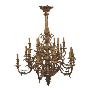 Gilded French Bronze Chandelier