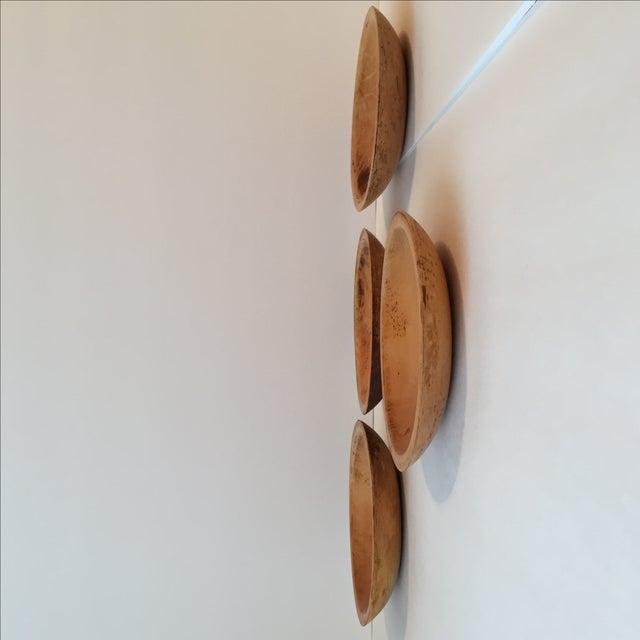 Primitive Wood Bowls - Set of 4 - Image 7 of 11