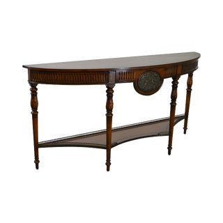 Theodore Alexander Demilune Regency Style Console Table