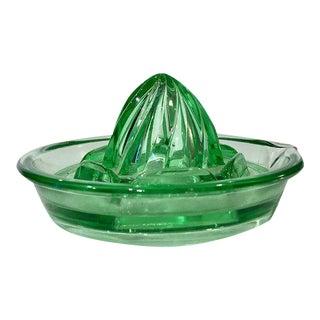Green Depression Glass Juicer