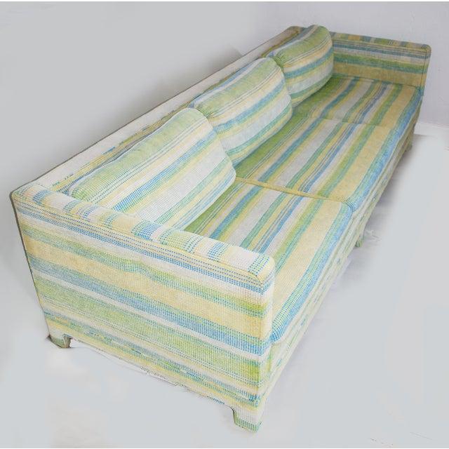 Vintage Erwin-Lambeth Three-Seat Green & Aqua Sofa - Image 8 of 10