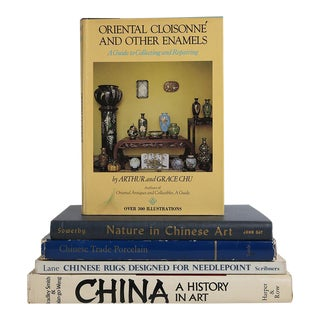 Chinese Art Book Stack - Set of 5