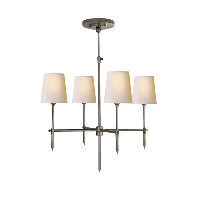 """Thomas O'Brien for Visual Comort """"Bryant"""" Chandelier - Image 9 of 9"""