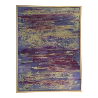 Abstract Blue & Purple Painting