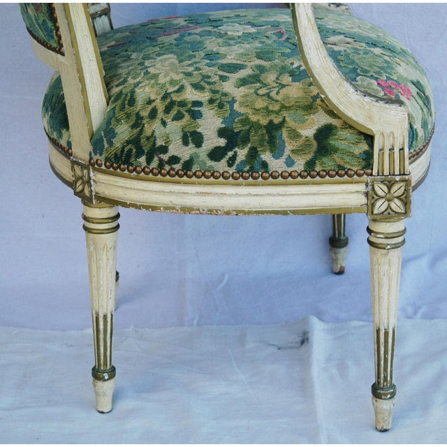 Scalamandre Marly Velvet Tapestry Fabric Armchair - Image 8 of 11