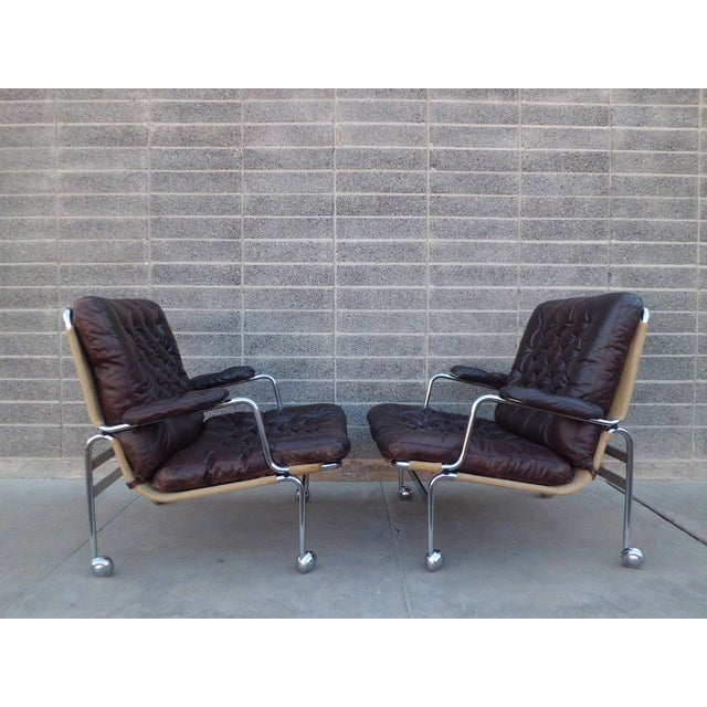Bruno Mathsson Karin Easy Chairs For Dux Sweden - Image 7 of 8