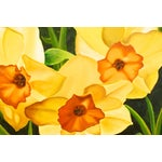 Image of Vintage Oil Painting - Yellow Daffodils