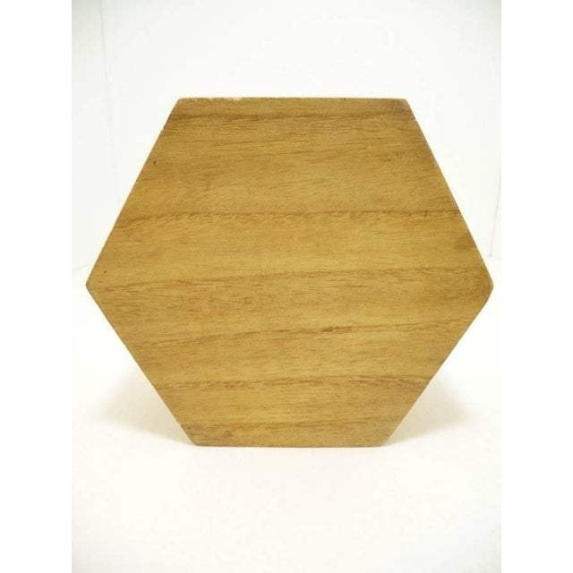 Vintage Hexagon Sea Shell Marquetry Inlay Wood Keepsake Box - Italy - Image 7 of 7