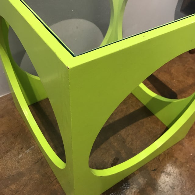 Adrian Pearsall Lime Green Cube Table - Image 5 of 6