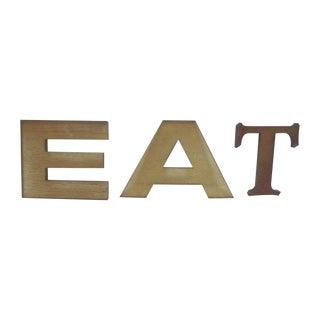 Lucite Letters EAT