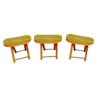 Mid-Century Modern Folding Stools or Tables - 3