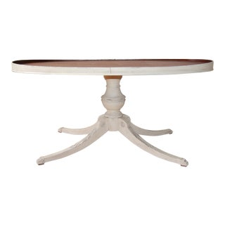 Stained Top White Coffee Table